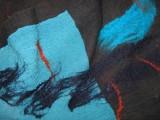 sjaal, naaldvilt-zijde-merinowol